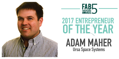 2017 Entrepreneur of the Year Adam Maher Ursa Space Systems