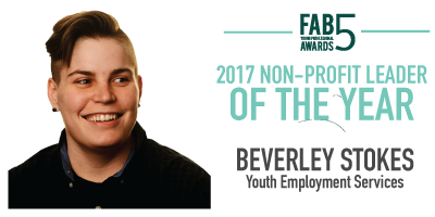 2017 Non Profit Leader of the Year Beverly Stokes Youth Employment Services