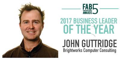 2017 Business Leader of the Year John Guttridge Brightworks Computer Consulting