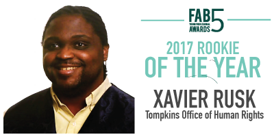 2017 Rookie of the Year Xavier Rusk Office of Human Rights